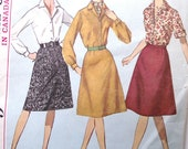 """Vintage Simplicity Blouse Pattern Small Size, 33"""" Bust"""