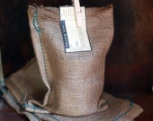 Set of 3- Natural Burlap Bags plain-  Size 5.5 in x 9.75 in