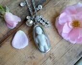 Repurposed Necklace Frozen Charlotte Doll - Sweet Charlotte