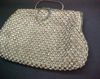 Antique Vintage Solid  Rhinestone Purse