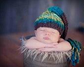 Knit Newborn Hat, Newborn Photography Prop - Urban Boy