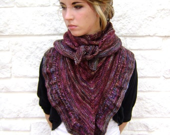 Knitting Pattern for Cathedral Shawl - Instant Download