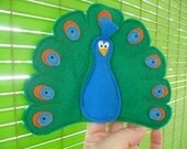 SAM Finger Puppets - Peacock