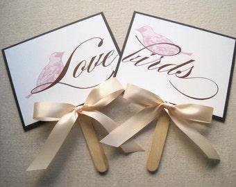 Love Bird Wedding Photo Prop/Sign