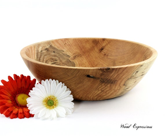 Wooden Spalted Red Oak Bowl / Dish