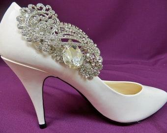 Rhinestone Shoe Clips, Bridal Shoe Clips, Wedding Shoe Accessory