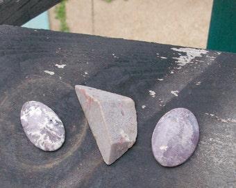 Lepidolite gemstone package of 3