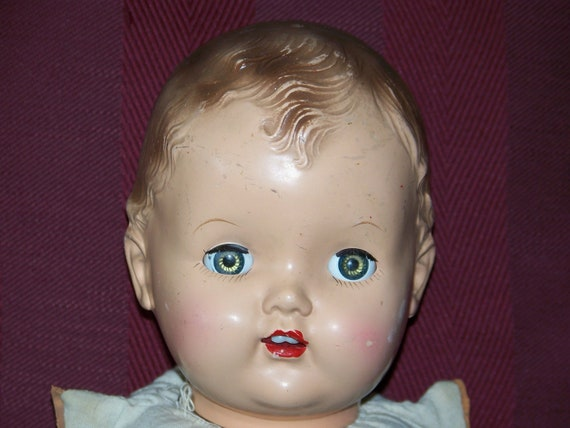 Vintage 1940s-50s Hard Plastic BABY DOLL HEAD by ...