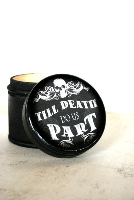 Halloween Wedding - Till Death Do Us Part Wood Box
