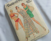 Vintage Designer Butterick Sewing Pattern for Bikini, Cover-up