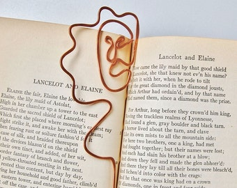 Madame Bovary copper woman bookmark