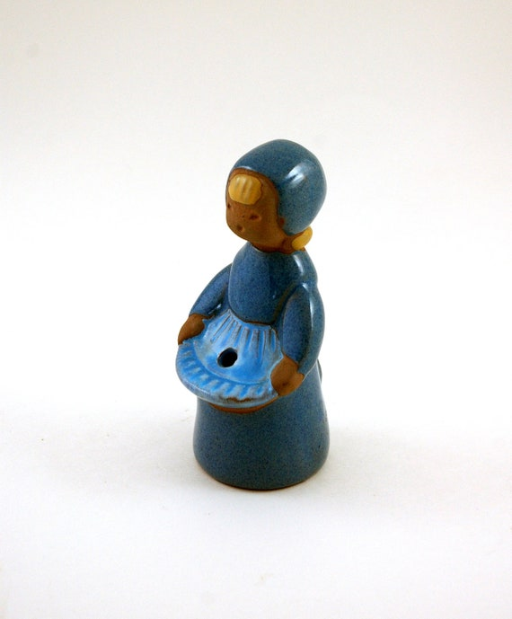 JIE Gantofta of Sweden Figurine Flower Holder Girl Vase