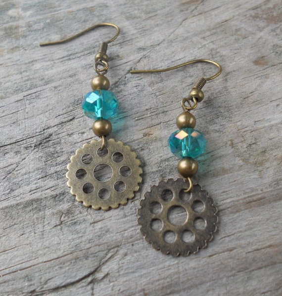 Gear Earrings Steampunk