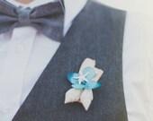 seaside wedding, seashell boutonniere, ocean wedding, seaside wedding, groomsmen wedding boutonniere, natural keepsake 'Meet Me Seaside'