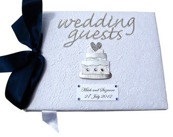 Personalised Wedding Cake Guest Book