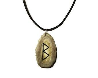 Berkano Bone Rune Necklace