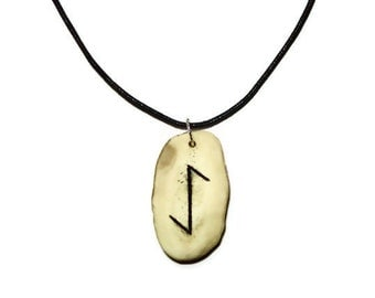 Eihwaz Bone Rune Necklace