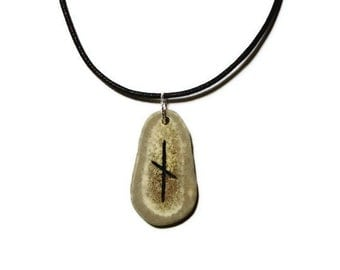 Nauthiz Bone Rune Necklace