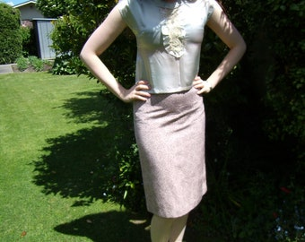 1930s silk blouse with lace and buttons