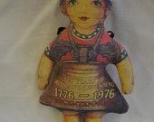 Vintage Liberty Belle Stuffed Doll