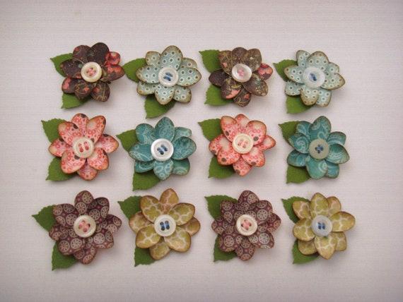 12 paper flowers