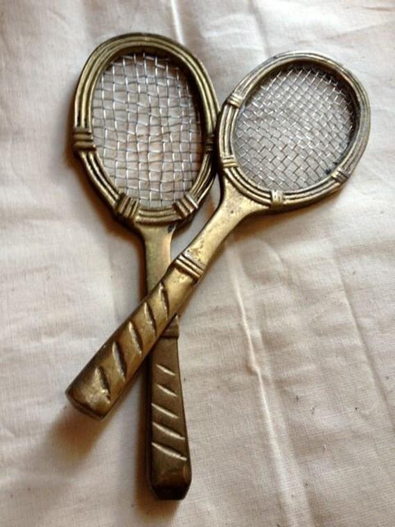 Brass mini tennis racquets