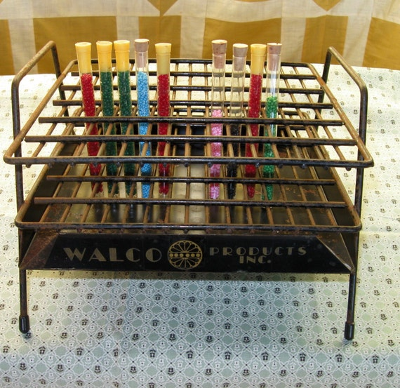 Vintage Metal Walco Bead Store Display Bead Storage