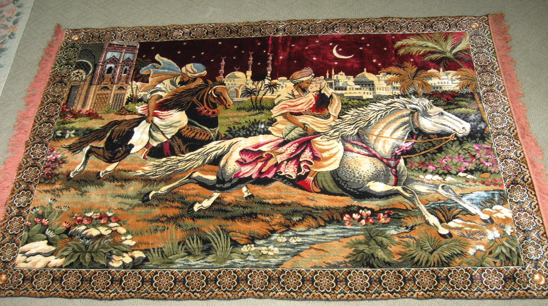 Vintage Arabian Nights Huge Tapestry Rug Wall By Kccaseyfinds