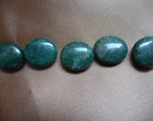 Designer Quality, Bead, African jade, natural, 16x14mm, flat oval, B grade, Mohs hardness 6 to 7, Pkg Of 8