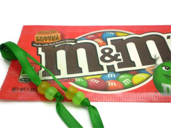 Peanut Butter M&M's Milk Chocolate Candies Bookmark - Recycled/Upcycled