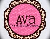 Flower Patch Frame Applique design Machine Embroidery Design Scallop Petal INSTANT DOWNLOAD