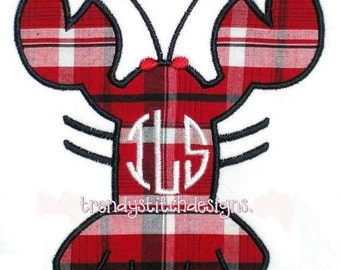 Lobster 1 Applique Design Machine Embroidery Design INSTANT DOWNLOAD