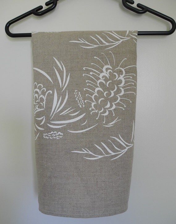 Screen Printed Linen Tea Towel