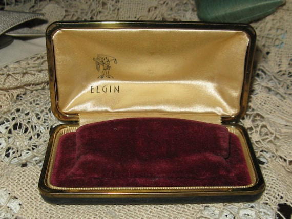 Elgin 1940s Watch Case Collectable Display Rare Find Jewelry Display