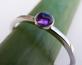Tiny Amethyst ring in Sterling Silver