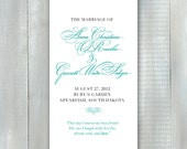 Wedding Program PDF