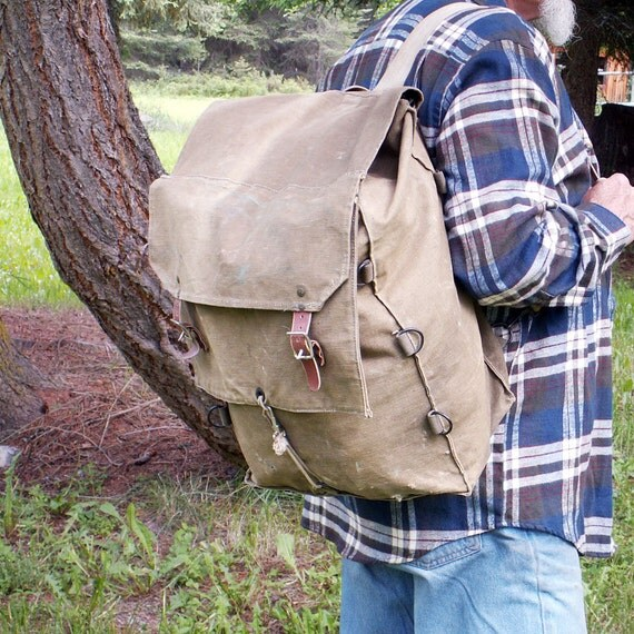 Vintage Canvas Backpack Military Kumfort Katahdin Pack