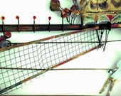 Mid-Century Modern Brass and Enamel Tennis Sculpture - Wall Hanging