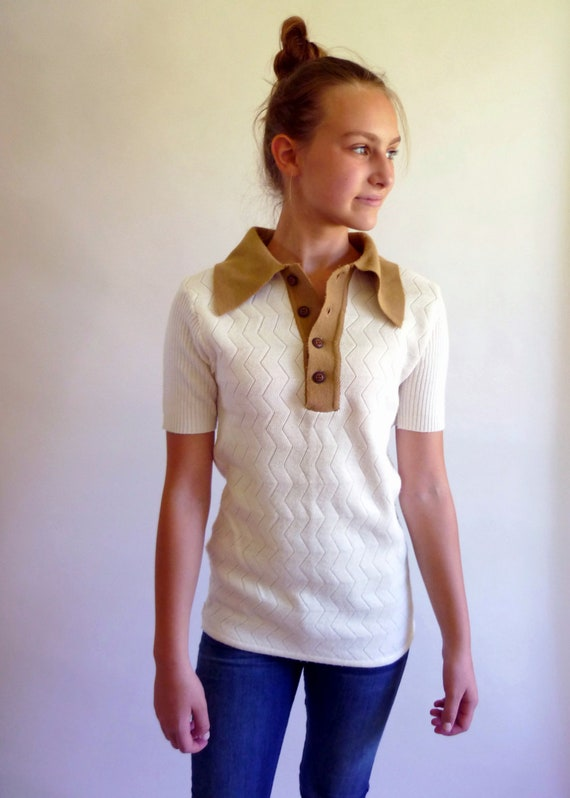 vintage knit shirt - 70s - Baccarat knit shirt