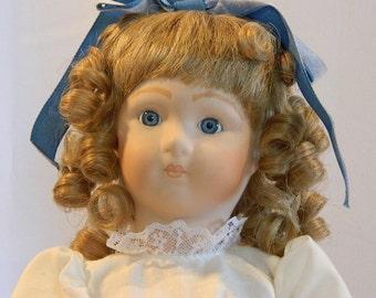 """SALE - Long Face Jumeau Reproduction Meg Doll - 17"""""""