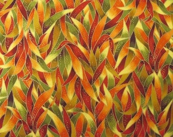 Multicolor Harvest Leaf  Fabric  3/8 yd.