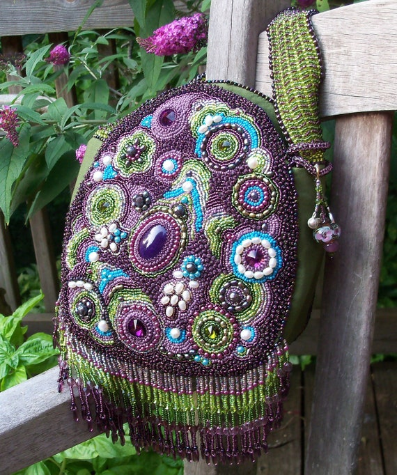 Paisley Garden Boho Beaded Bag