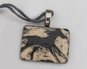 Horse pendant carved stoneware pottery