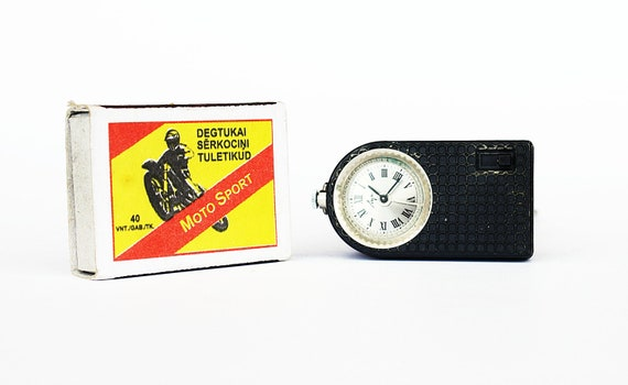 Vintage Belarus mechanical alarm clock Luch travel alarm clock gadget