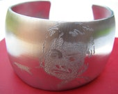 Tenth Doctor Who David Tennant Hand Engraved Large Silver Aluminum Cuff