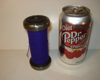 Vintage Colorful Industrial Spindle with Dark PURPLE Thread