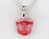 Red Autobot ball chain necklace
