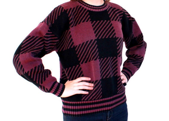 SALE The Simple Knitted Checkerboard Sweater
