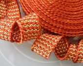 Moroccan burnt orange and gold art silk trim