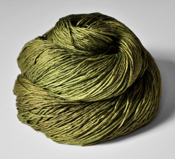 I know what happened to the olive OOAK - Silk Yarn Fingering weight